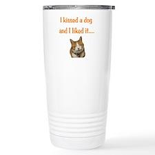 Cat kiss Travel Mug