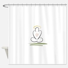 Zen peaceful mind meditation pose Shower Curtain