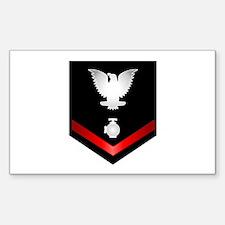 Navy PO3 Utilitiesman Sticker (Rectangle)