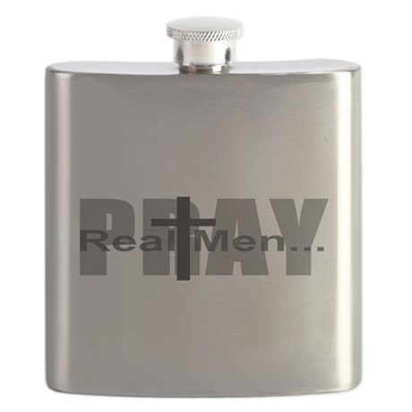 Real Men Pray Flask