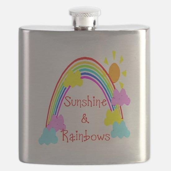 rainbow sunshine Flask