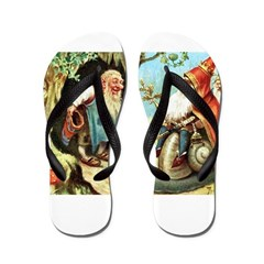 King of the Gnomes Flip Flops