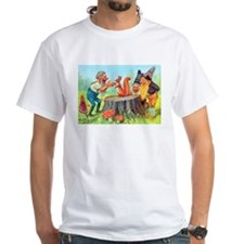 Gnomes Examine a Friendly Squirrel Shirt