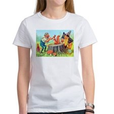 Gnomes Examine a Friendly Squirrel Tee