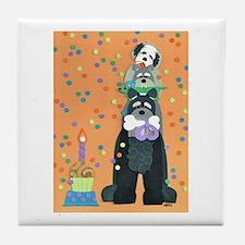 Dog Gone Birthday Tile Coaster
