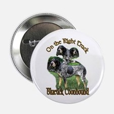 """Bluetick Coonhound Gifts 2.25"""" Button (10 pack)"""