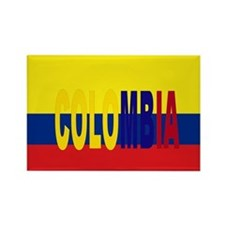 Colombia tricolor Rectangle Magnet