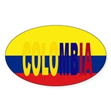 Colombia tricolor Oval Decal