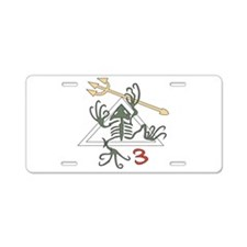 SEAL Team 3 Patch Aluminum License Plate