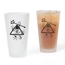 SEAL Team 3 Patch B-W Drinking Glass