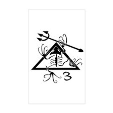 SEAL Team 3 Patch B-W Decal
