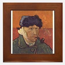 Van Gogh Self Portrait Framed Tile