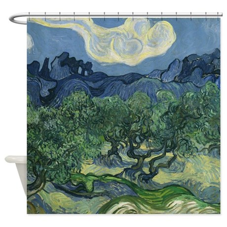 Van Gogh The Olive Trees Shower Curtain