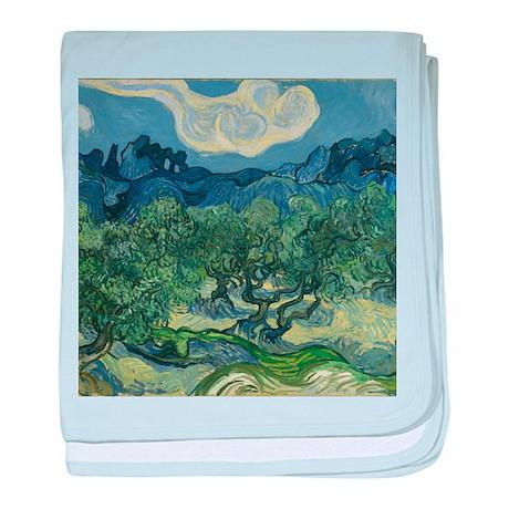 Van Gogh The Olive Trees baby blanket