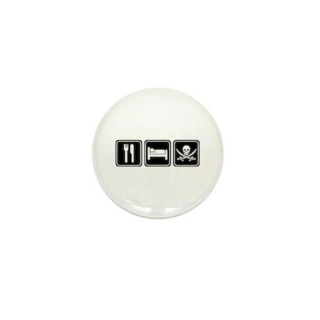 Eat Sleep PIRATE Mini Button (10 pack)