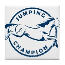 "Jumping Horse ""Jumping Champion"" (Blue) Tile Coast"