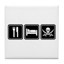 Eat Sleep PIRATE Tile Coaster