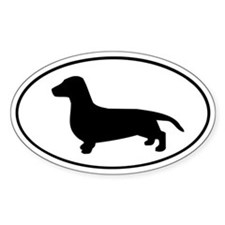 Dachshund Oval Decal