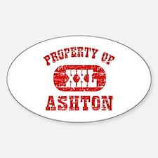Property Of Ashton Decal