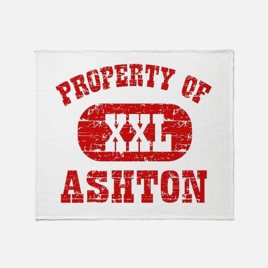 Property Of Ashton Throw Blanket