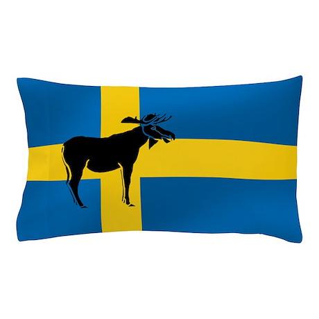 Sweden Elk / Moose Flag Pillow Case