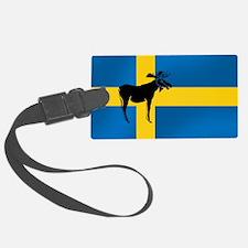 Sweden Elk / Moose Flag Luggage Tag