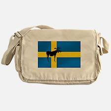 Sweden Elk / Moose Flag Messenger Bag