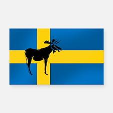 Sweden Elk / Moose Flag Rectangle Car Magnet