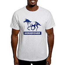 Running Horse Horsepower (Blue) T-Shirt