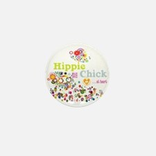 Hippie Chick at Heart Mini Button (100 pack)