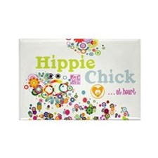 Hippie Chick at Heart Rectangle Magnet
