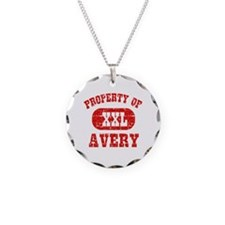 Property Of Avery Necklace Circle Charm