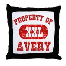 Property Of Avery Throw Pillow