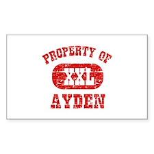 Property Of Ayden Decal