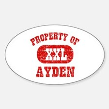 Property Of Ayden Sticker (Oval)