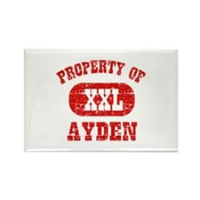 Property Of Ayden Rectangle Magnet