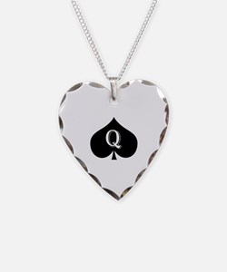 Queen of spades Necklace