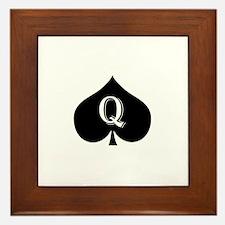 Queen of spades Framed Tile