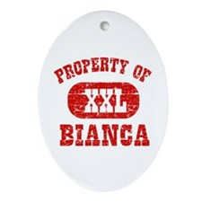 Property Of Bianca Ornament (Oval)
