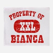 Property Of Bianca Throw Blanket