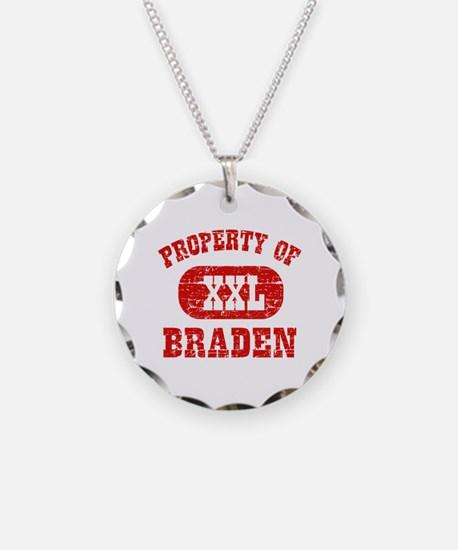 Property Of Braden Necklace Circle Charm