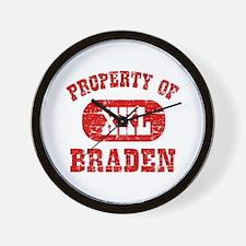 Property Of Braden Wall Clock