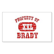 Property Of Brady Decal