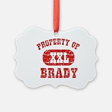 Property Of Brady Ornament