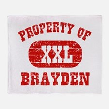 Property Of Brayden Throw Blanket