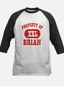 Property Of Brian Kids Baseball Jersey