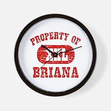Property Of Briana Wall Clock
