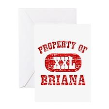 Property Of Briana Greeting Card