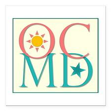 "Ocean City, MD Square Car Magnet 3"" x 3"""