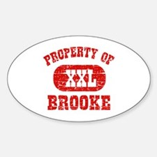 Property Of Brooke Decal